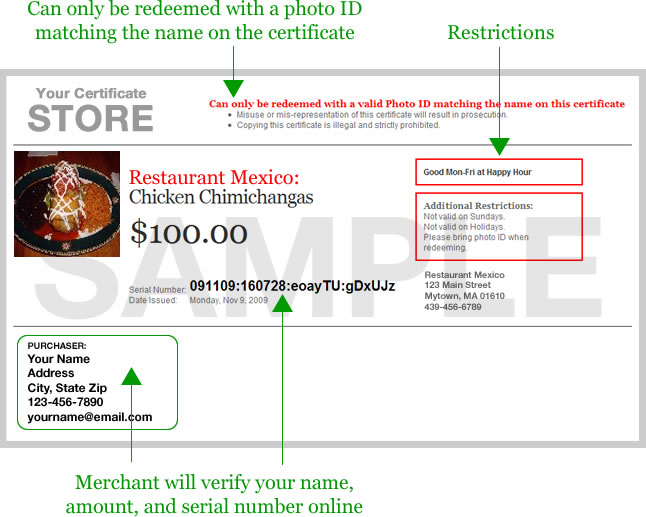 Dine.Restaurant.Com Redeem Certificate - Best Design Sertificate 2018